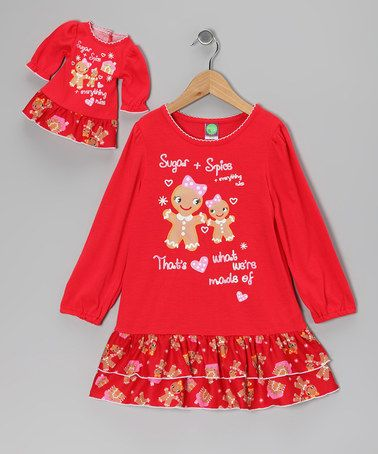 Dollie   Me Red Gingerbread Nightgown   Doll Outfit - Girls  40d87b5d4