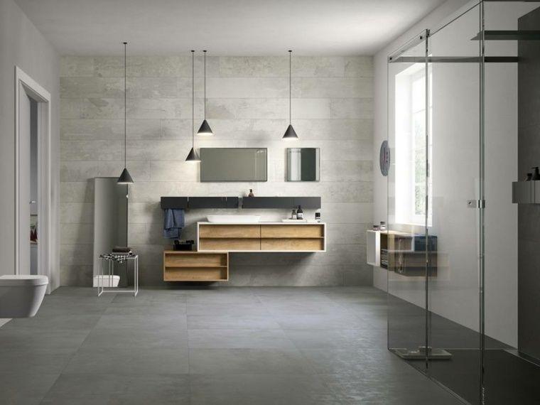 Salle De Bains Béton Ciré En Idées Daménagement Originales - Suspension salle de bain design