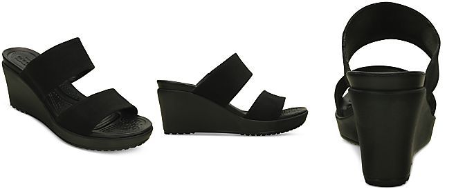 79b4dc63bc Crocs Women's Leigh II 2-Strap Wedge Sandals | Shoes | Shoes ...