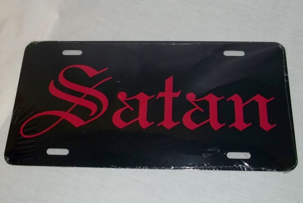 Biting Lips License Plate 6 X 12 Inches New Aluminum Made In The Usa