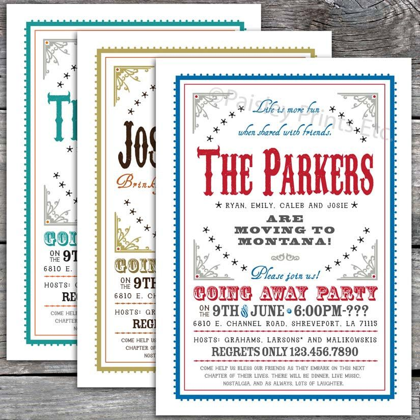 Western Chic Farewell Party Invitation REC Party Invitations