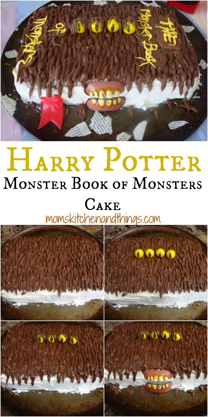 HARRY POTTER MONSTER BOOK OF MONSTERS CAKE momskitchenandthings