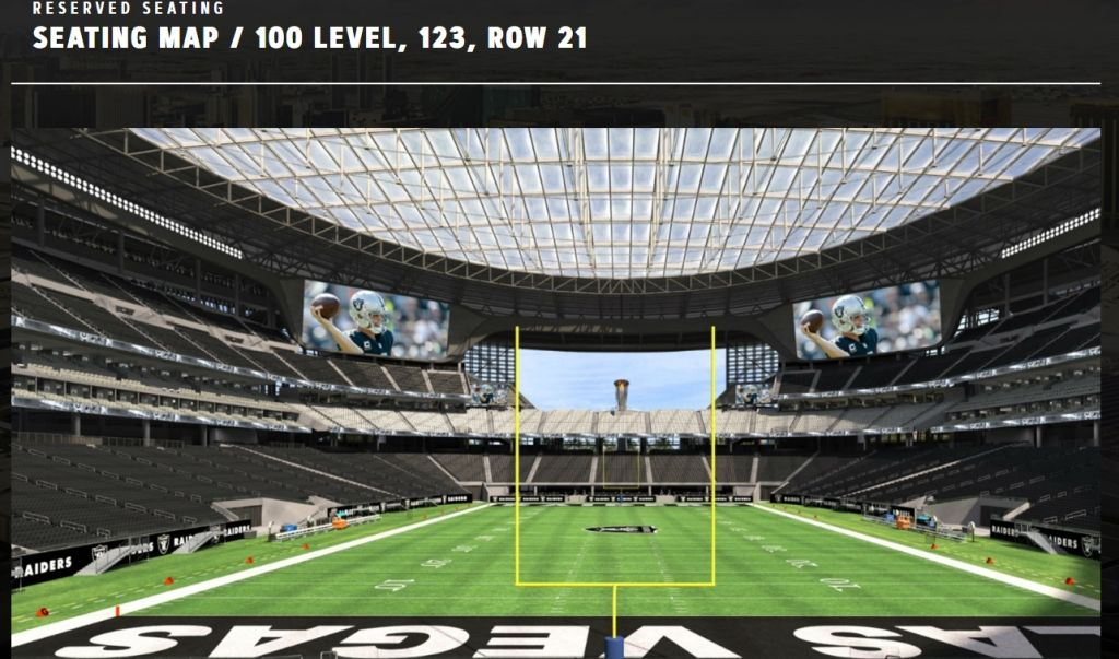 The Most Elegant As Well As Gorgeous Raiders Stadium Seating Chart