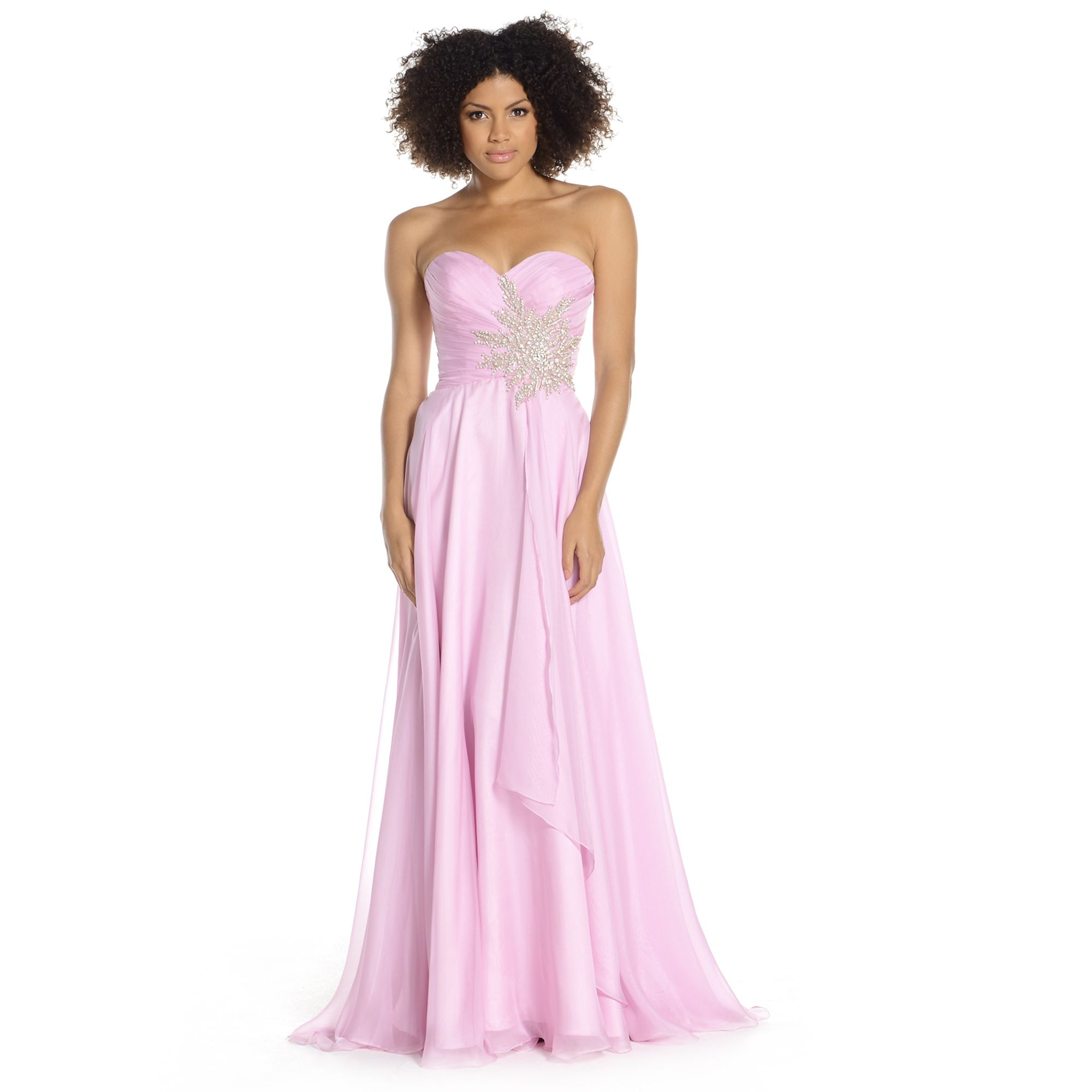 An elegant chiffon gown perfect for prom cruise wear or evening