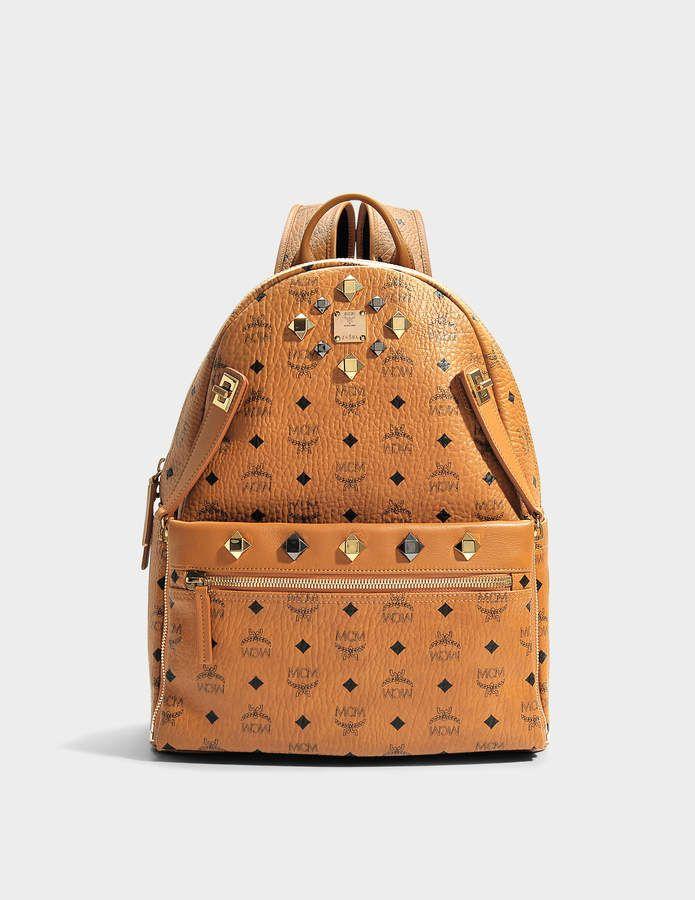 fd3da44b8b69 MCM Dual Stark Medium Backpack in Cognac Visetos
