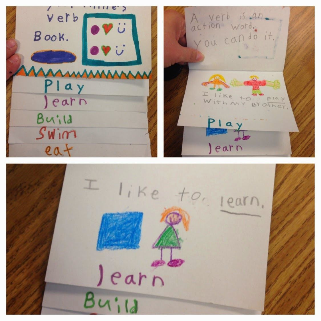 Crazy For First Grade Great Verb Flip Book Brain Pop