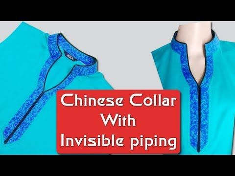 5f12eda50 Chinese Collar neck kurti design with invisible piping Easy DIY Hindi  tutorial - YouTube
