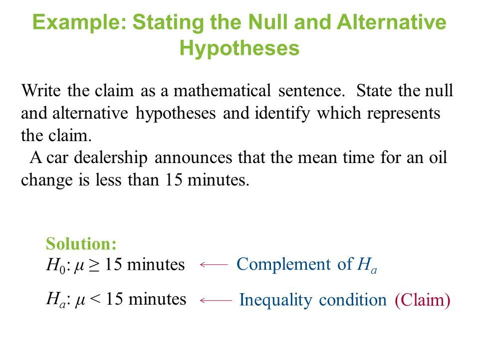 State The Alternative Hypothesis Vision Professional Hypothesis Hypothesis Examples Null Hypothesis