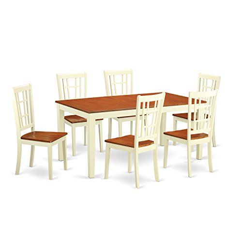 East West Furniture Dining Table Set Ermilkcherry Finish You Can Get Additional Details At The Image Link