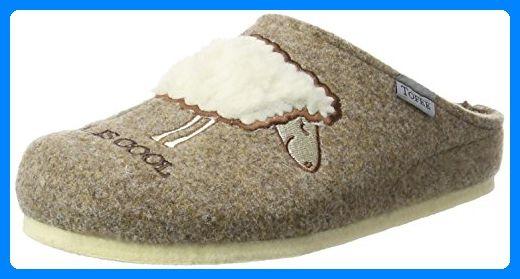 TOFEE Damen 74-s395 Pantoffeln Wool is Cool, Beige (Beige), 41 EU