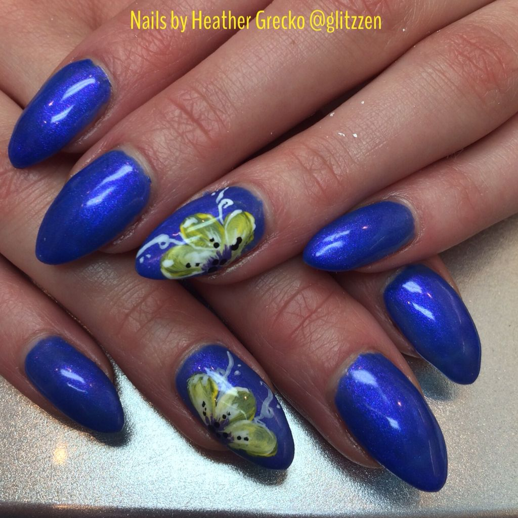 LCN's nice to meet you Aquarius Lcn nails, Nails, Nail art