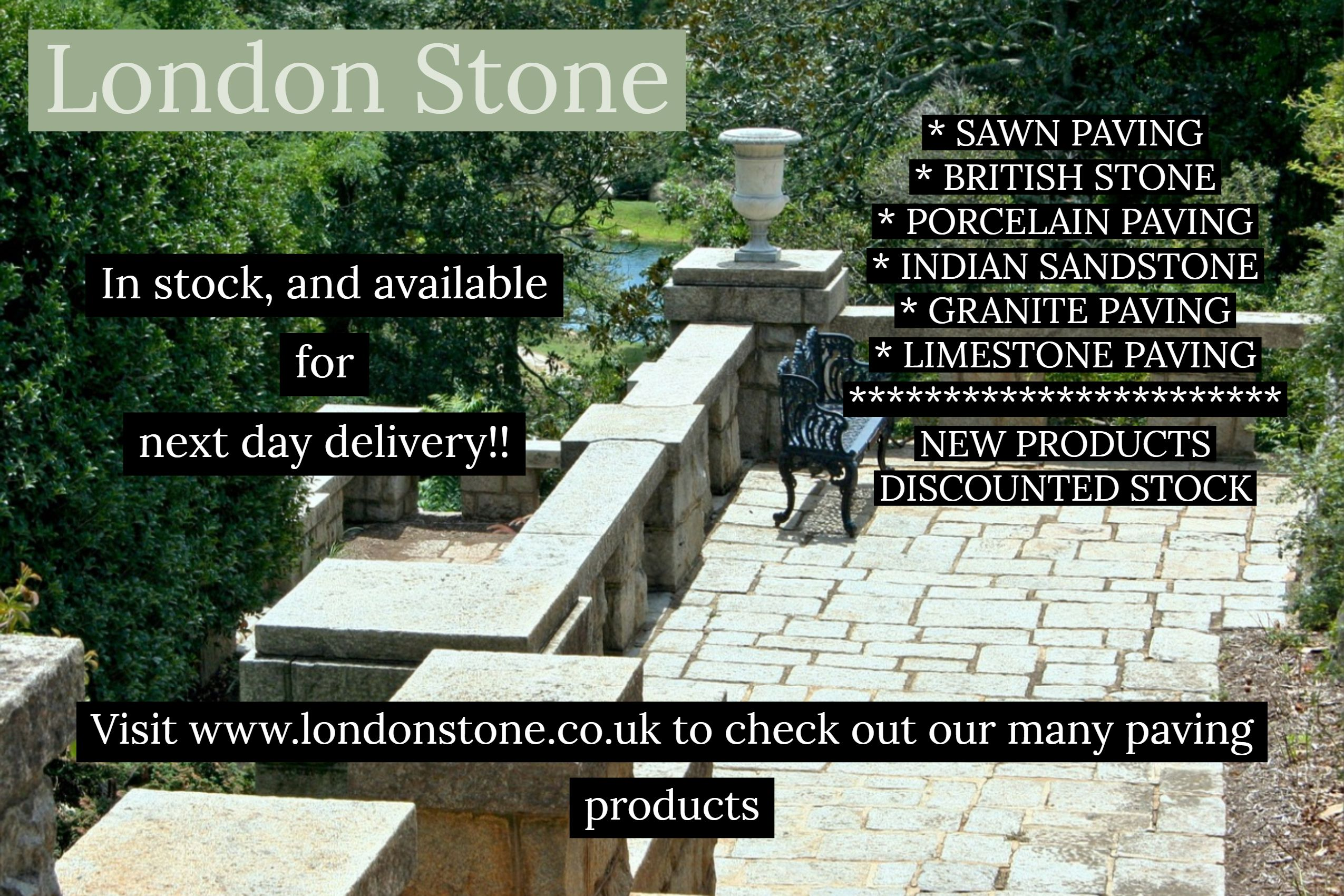 Here At London Stone We Specialise In Natural Stone Paving And Bespoke Stone Products Including Limestone Products An Garden Slabs Paving Stones Granite Paving