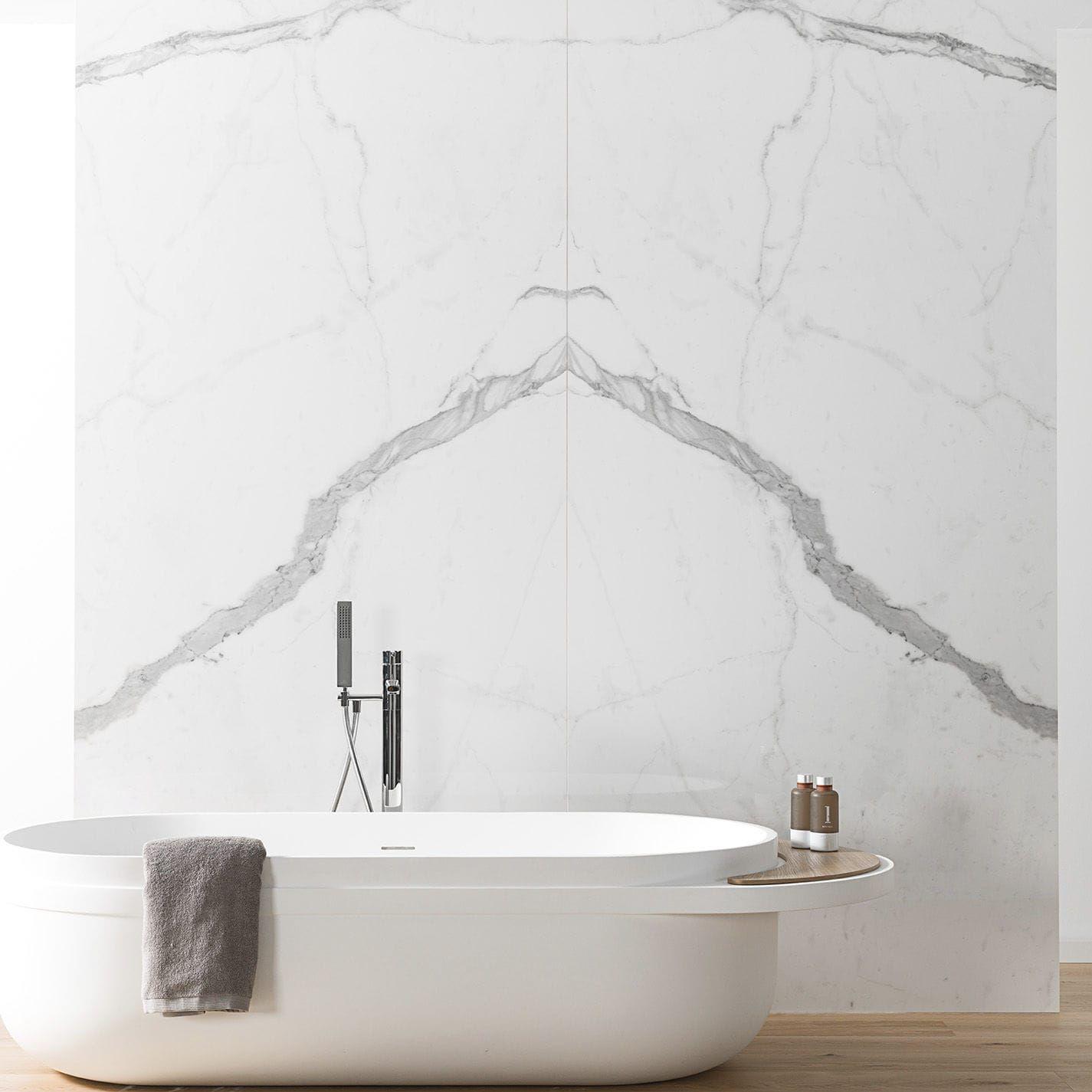 Wall-mounted tile / for floors / porcelain stoneware / matte XLIGHT ...