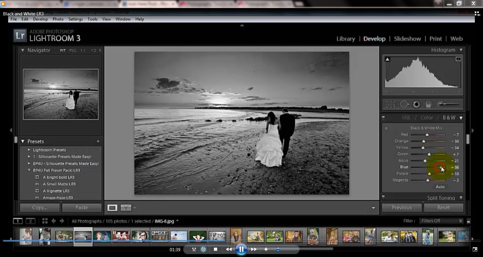 New on the blog! Learn how to use Black and White in Lightroom!