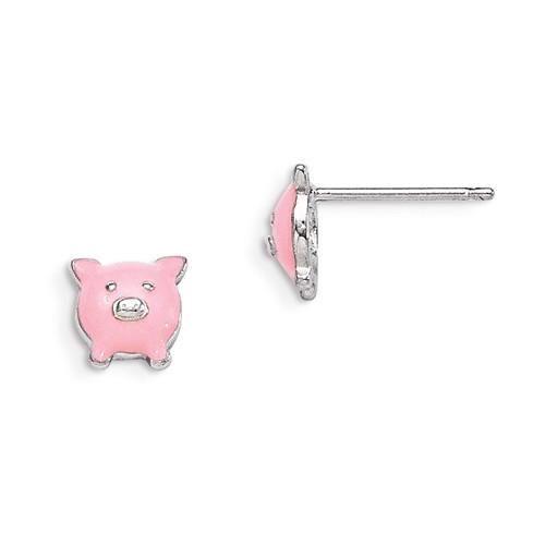 Pink Pig Earrings - Sterling Silver jDr3dYU7