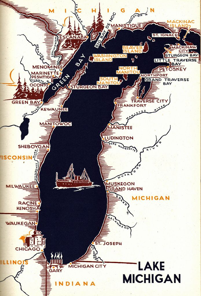 Map Michigan State%0A What a great and relaxing drive with overnight stays in Cadillac  Michigan   Mackinac Island