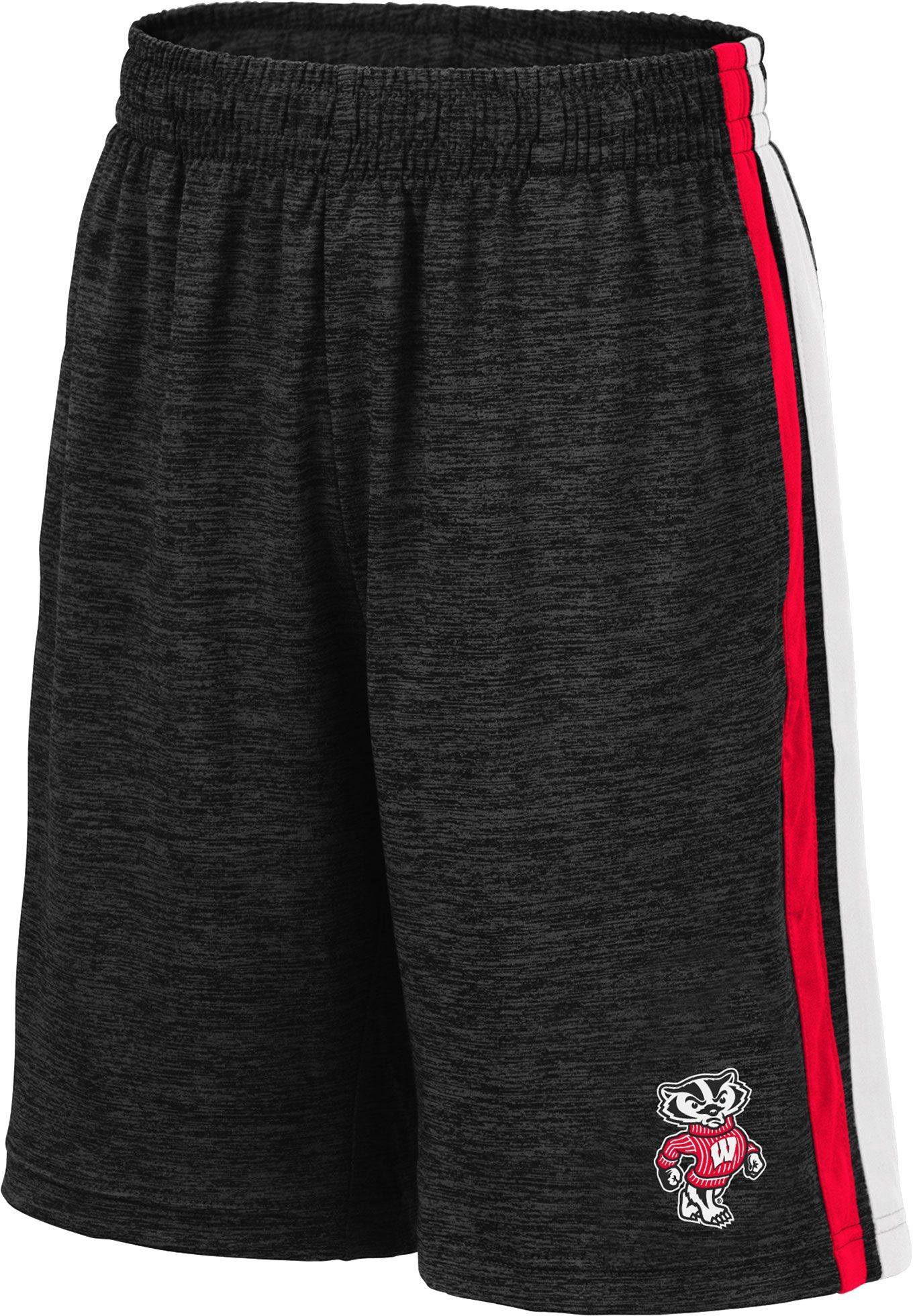 Colosseum Youth Wisconsin Badgers Grey Mendoza Shorts Wisconsin Badgers Maryland Terrapins Colosseum