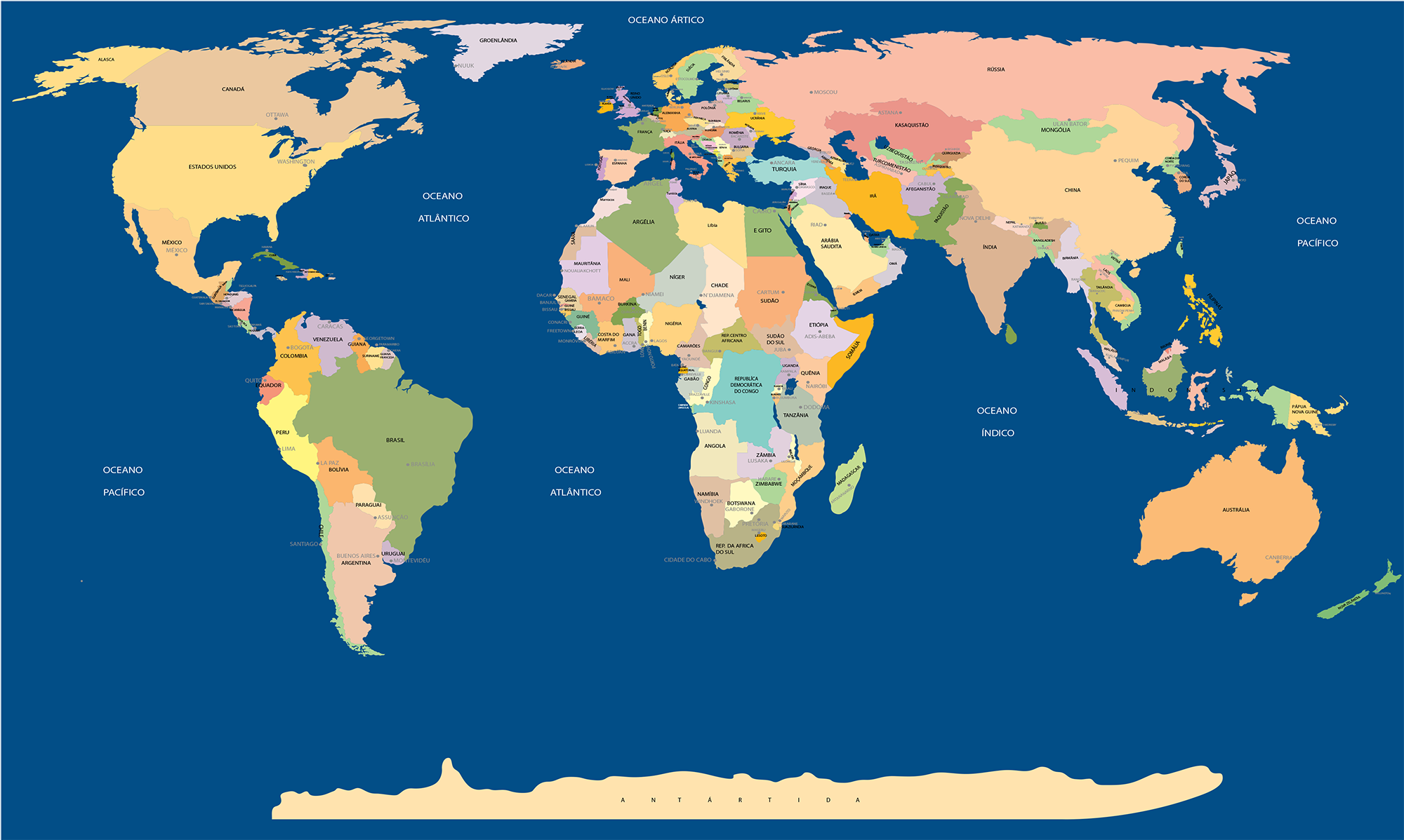 mapa mundi paises Mapa Mundi nome de todos os paises e capitais | Pessoal  mapa mundi paises