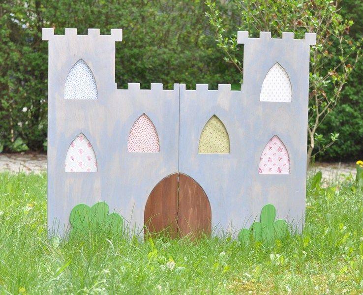 Ritterburg fürs Kinderfest Bauanleitung zum selber bauen bank