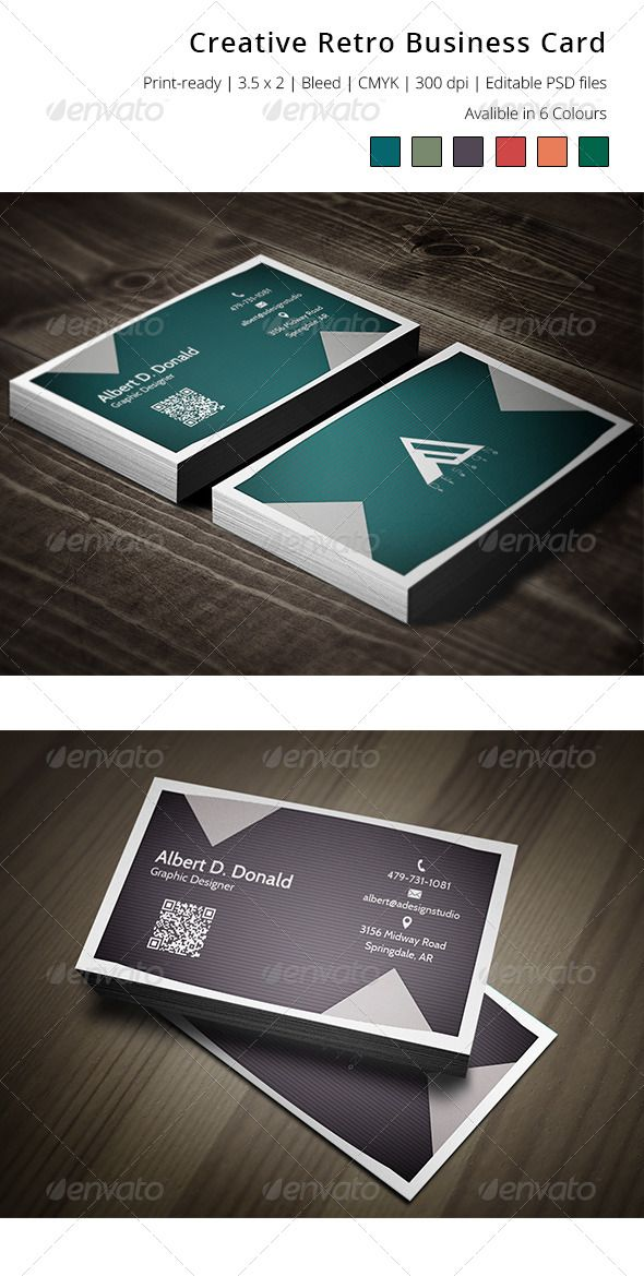 Creative Retro Business Card | Business cards, Business and Retro
