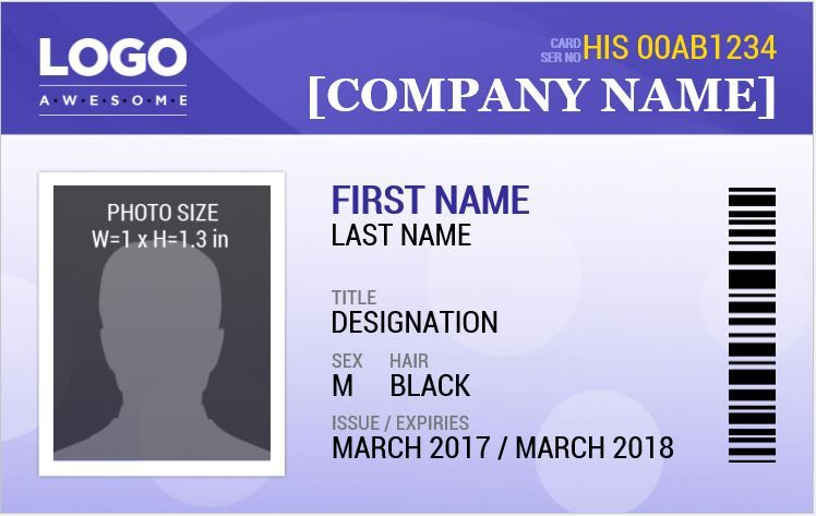 Employee Photo Id Badges Template 15 Free Docs Xlsx Pdf Id Card Template Card Templates Free Employee Id Card