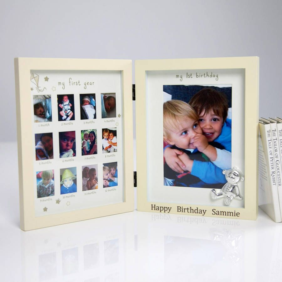 Personalised \'My First Year\' Frame | Baby things and Babies