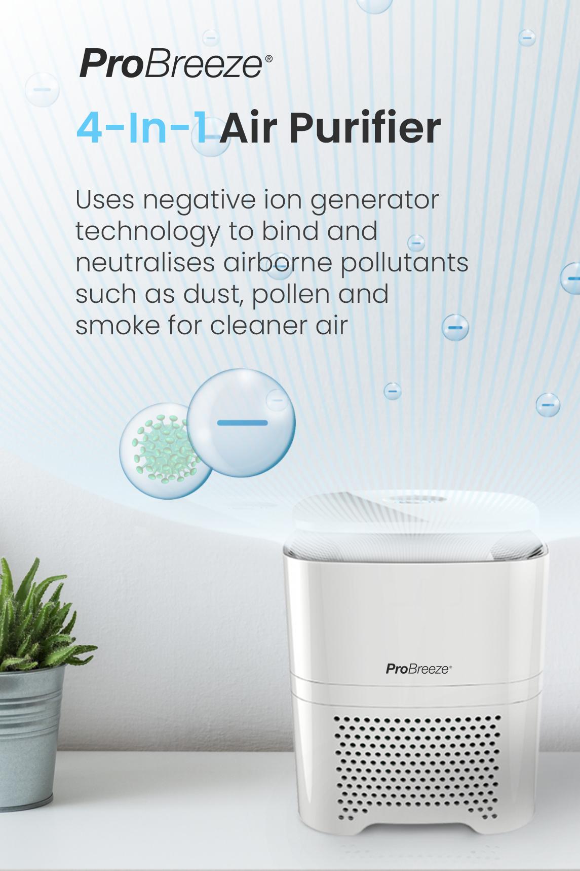 5 In 1 Air Purifier Hepa Filter Negative Ion Generator Pro Breeze Air Purifier Purifier Hepa Filter Air Purifier