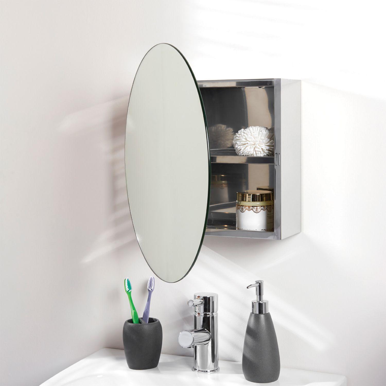 Hgxc Round Mirror Bathroom Mirror Cabinet Sliding Locker Walnut Wood Wall Mounted Mirror 50 Bathroom Mirror Storage Bathroom Mirror Cabinet Mirror Cabinets