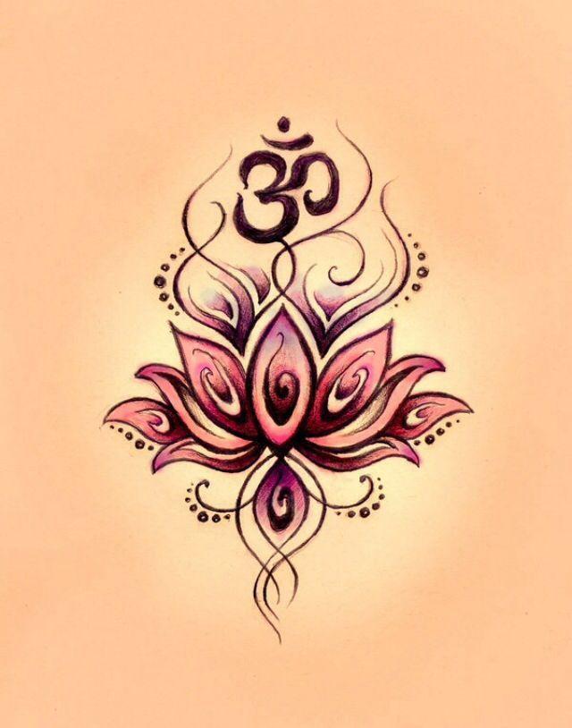 Symbole De Priere Indien Avec Lotus Zen Tatouage Tatouage