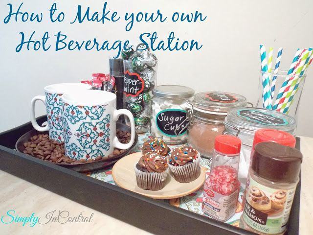 Create Your Own Coffee Tea Hot Chocolate Station Hot Beverage