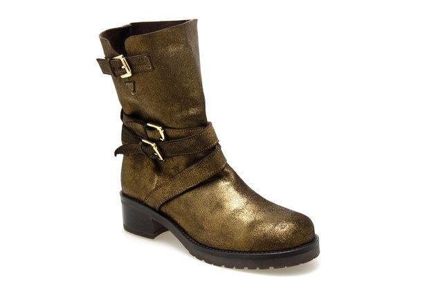 meilleur fournisseur nouveaux produits pour En liquidation Bottines MELLOW YELLOW MAKI Or - Chaussures femme   Mellow ...