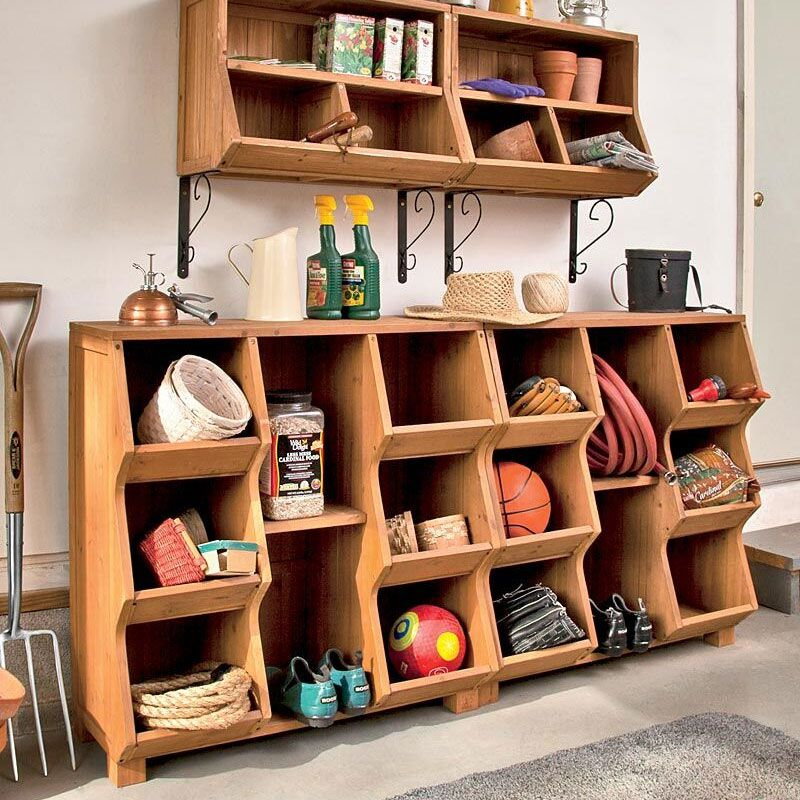 6 Compartment Storage Cubby Wall Cubbies Cubby Storage Wood Storage