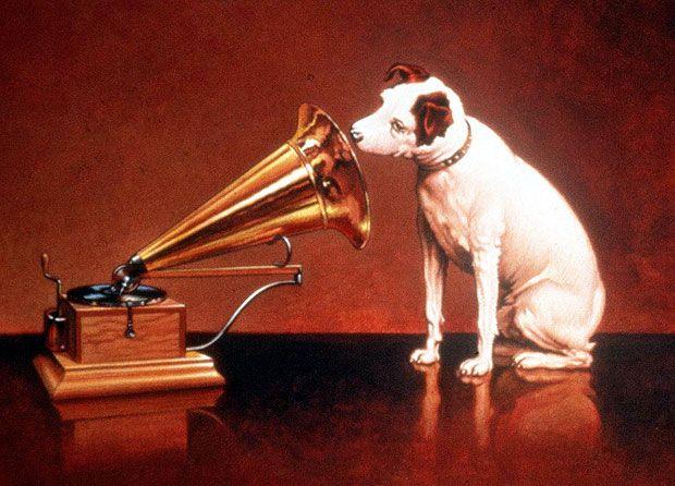 Rip Hmv Old Grammophon Pekingese Dogs Phonograph His