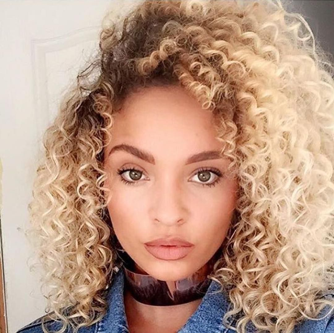 Curly hair goals for days Color by Becki thehairboutique814 with