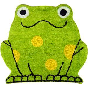 Pin By Beth Horn On Damon S Bathroom Frog Bathroom Tufted Rug Yellow Towels