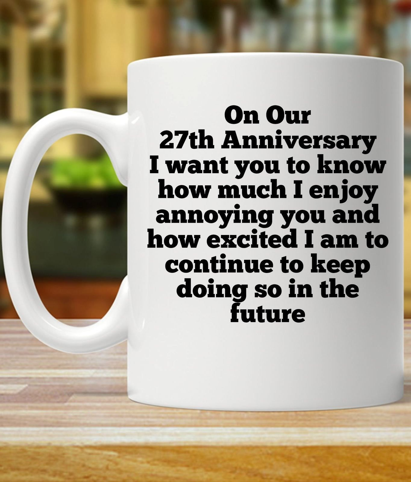 27th anniversary gift for husband 27th anniversary gift