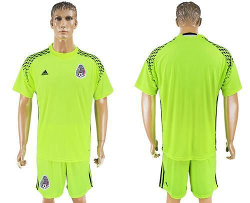 b5d7269acfc ... low price 2017 2018 mexico blank shiny green goalkeeper soccer country  jersey 2ca4b 79919