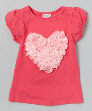 Look what I found on #zulily! Hot Pink Rose Heart Tee - Infant, Toddler & Girls #zulilyfinds