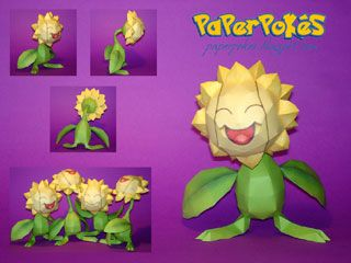 paperpokes | This Pokemon Sunflora papercraft is the Paperpoke's special release ...