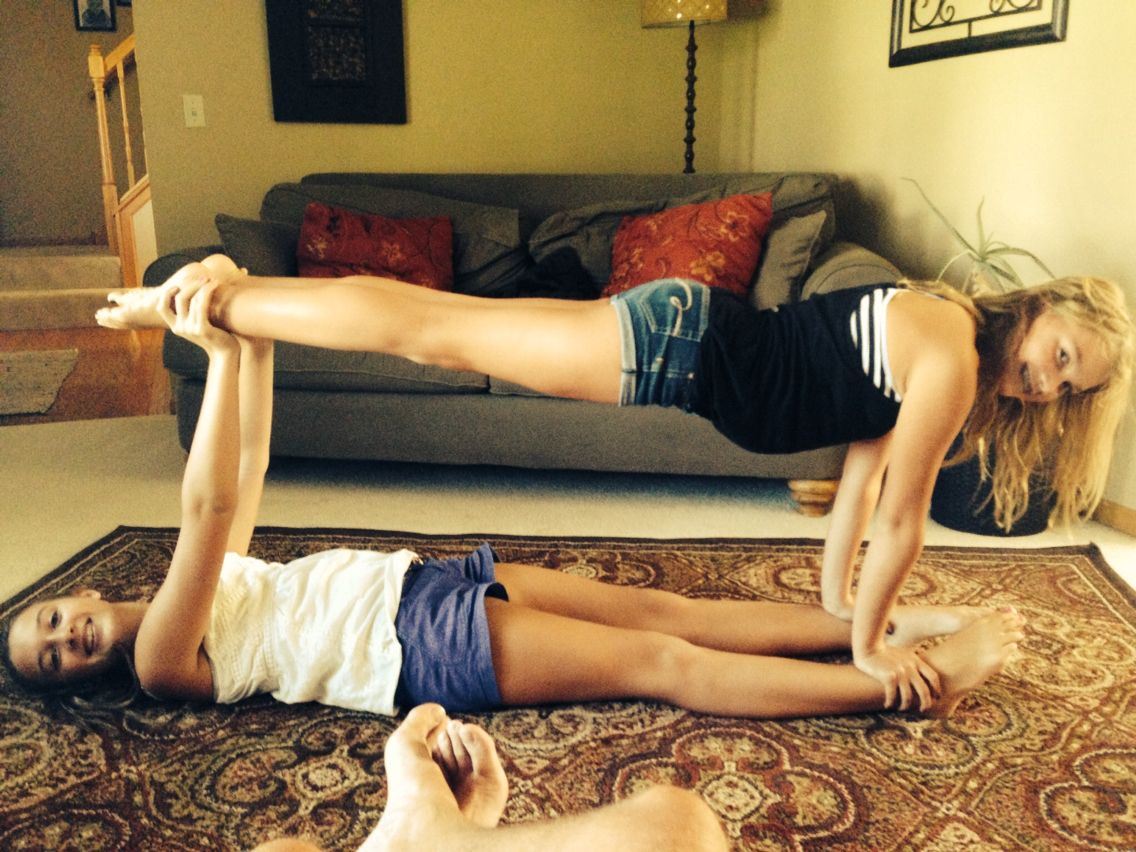 Two Person Acro Stunt With Meghurls Hailhurls'