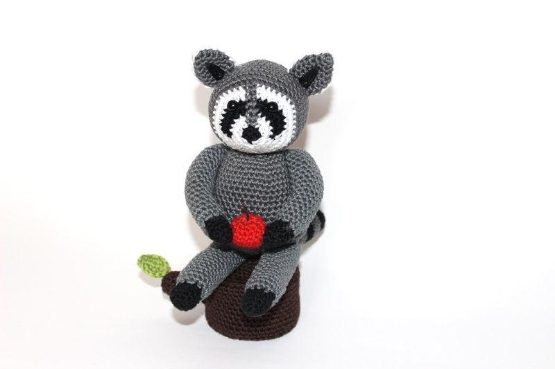 crochet racoon   www.haekelherz.de