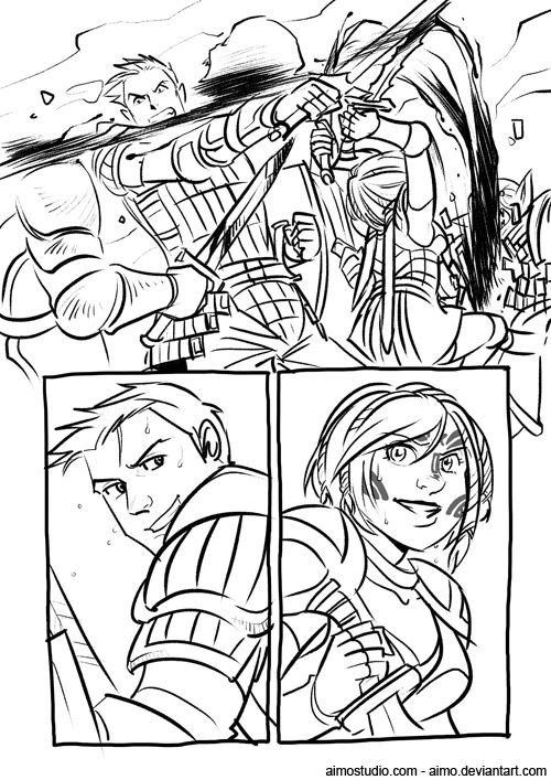 DA - Wounded, Page 1 by aimo.deviantart.com on @DeviantArt