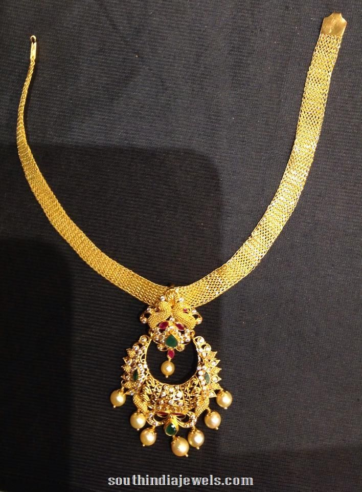 e7b5b011b0c999 Gold Attigai Design Wedding Ornament, Indian Goddess, South Sea Pearls,  Bridal Jewellery,