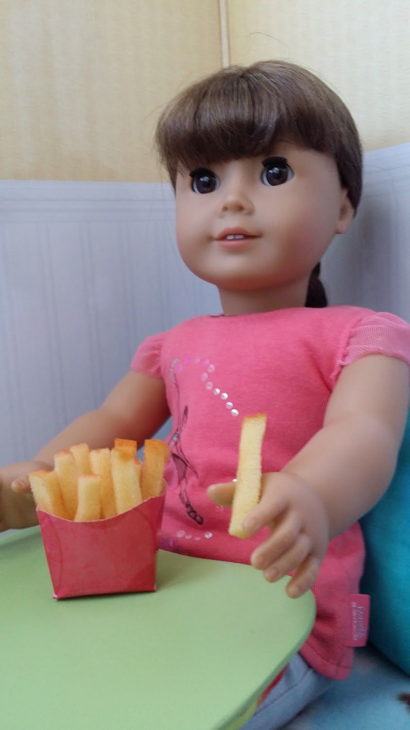 Craft make doll french fries with images american