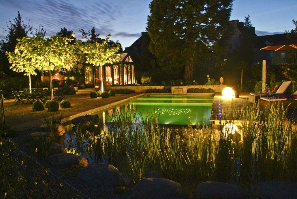 Mustergarten Beleuchtung Fuer Schwimmteich Naturpool