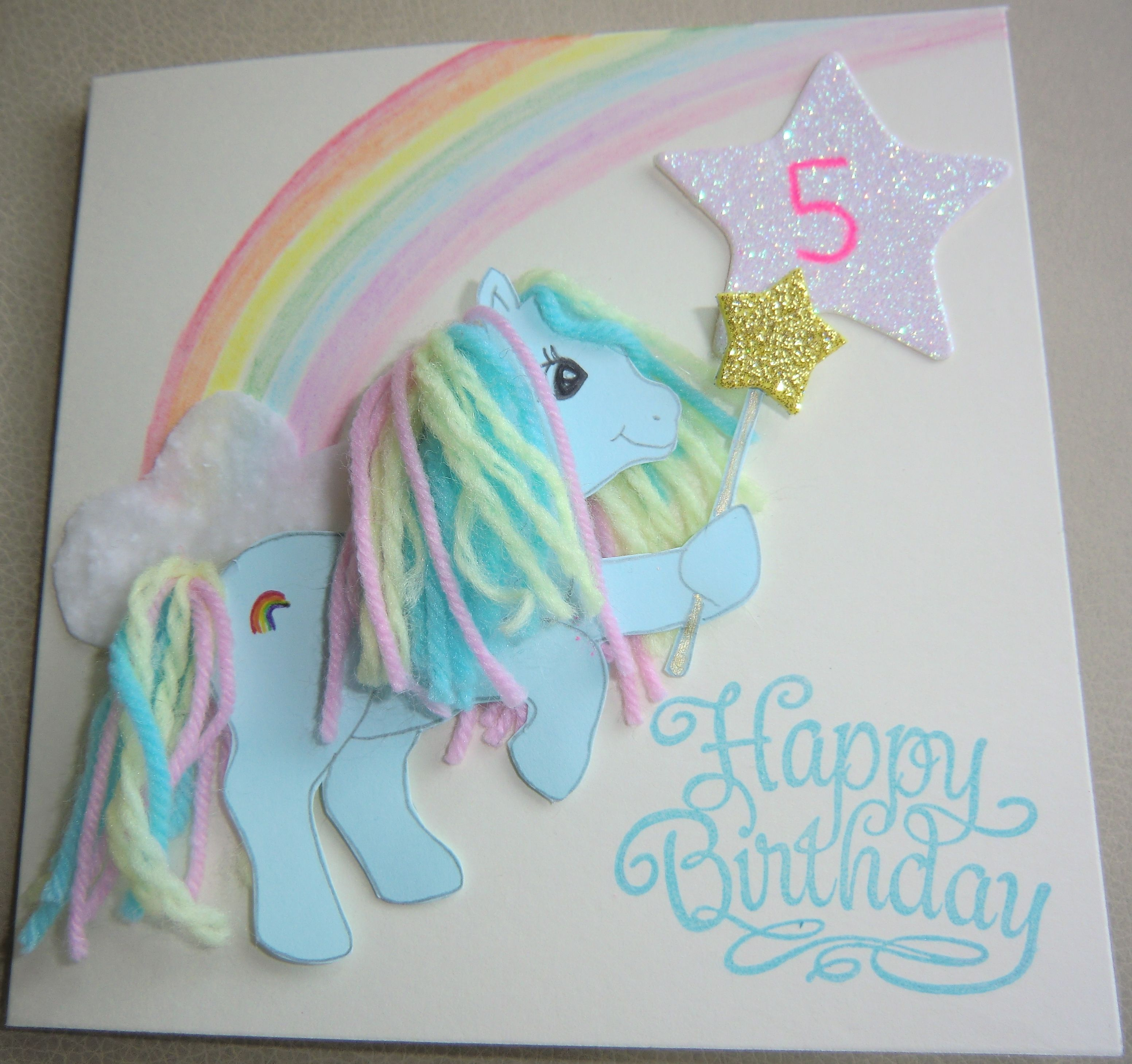 Birthday Card For My Little Pony Crazy 5 Year Old Niece