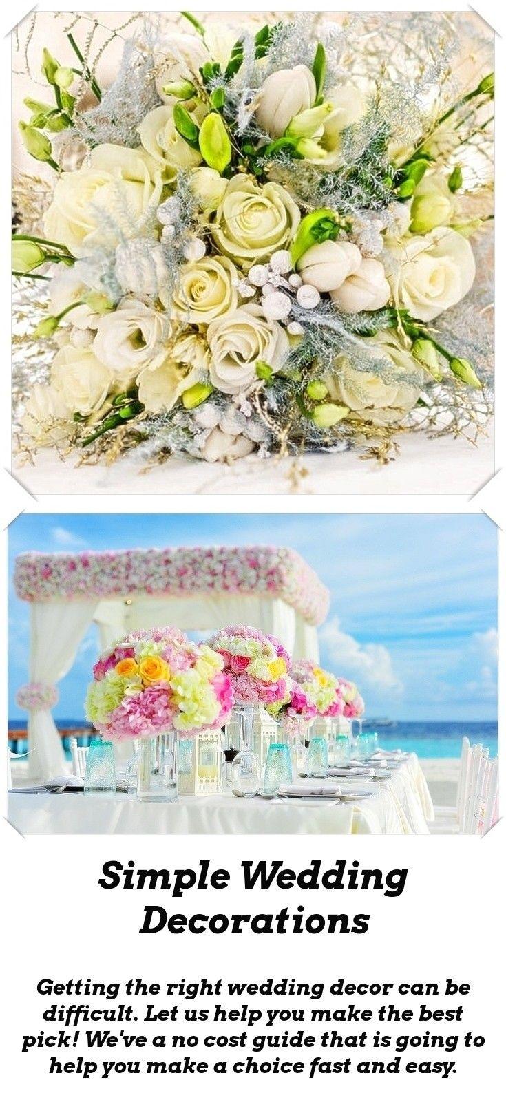 Simple wedding decoration ideas for reception  Wedding Decoration Ideas  Pinterest  Reception Wedding and Wedding