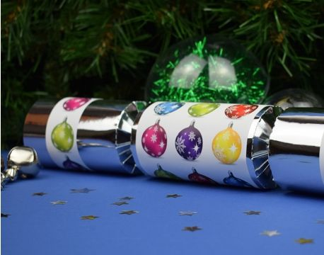 8 silver foil christmas baubles make fill your own party 8 silver foil christmas baubles make fill your own party crackers kit the solutioingenieria Image collections