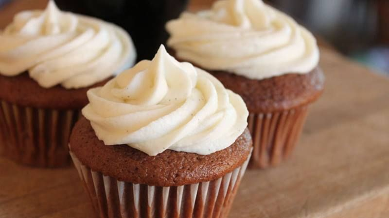 The robust taste of stout combines with chocolate for a rich and moist cupcake!