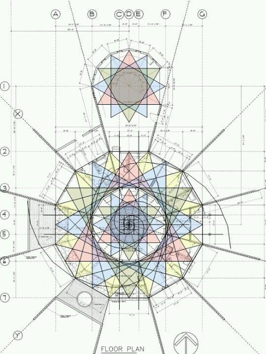 Golden Ratio House Design floor plan using fibonacci   geometry   pinterest   geometry
